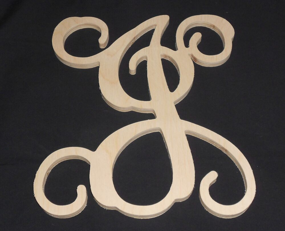 18quot wooden vine letter unfinished wood letters room decor for Ebay wooden letters