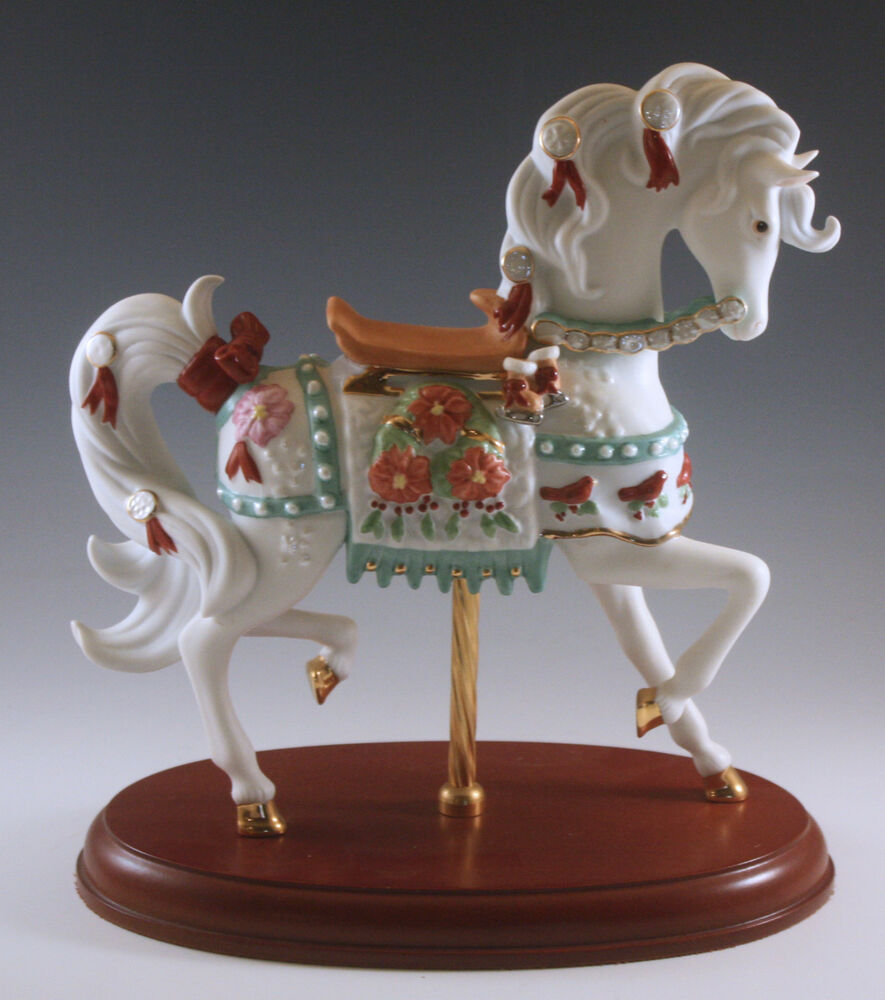 Lenox limited edition christmas carousel horse mint