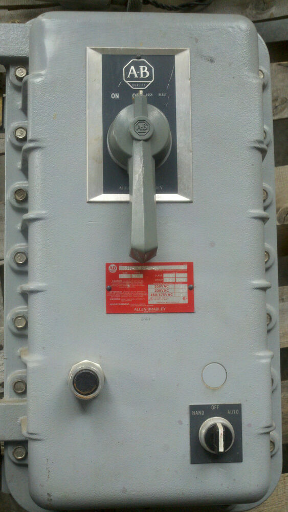 Allen bradley explosion proof size 0 combination motor for When do you need a motor starter