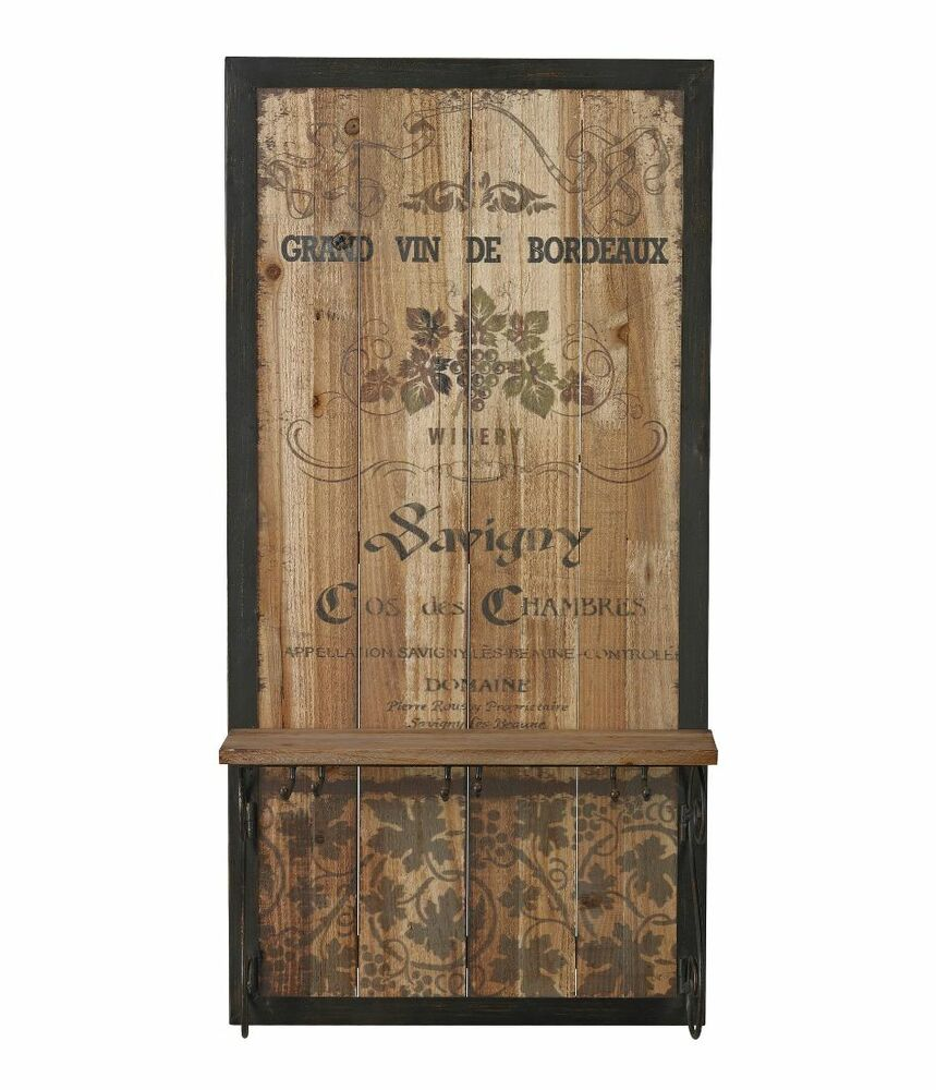 vintage tuscan grand vin de bordeaux wine wood wall art. Black Bedroom Furniture Sets. Home Design Ideas