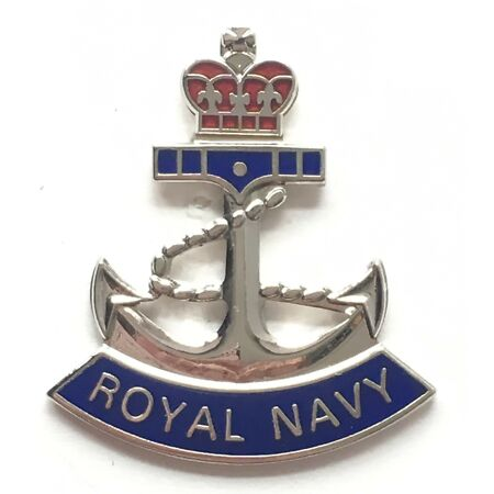 img-Royal Navy Crown and Anchor - MOD Military Approved Royal Navy Enamel Badge