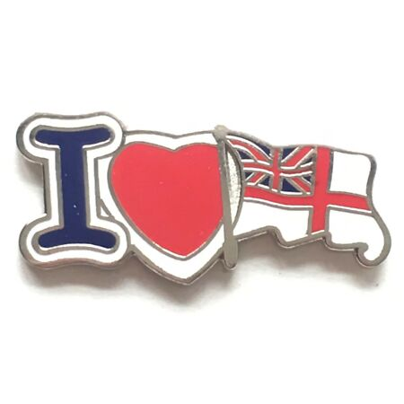 img-I Love The Royal Navy White Ensign - MOD Military Approved Navy Enamel Pin Badge