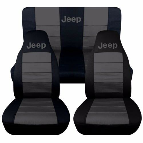 Front Amp Rear Black And Charcoal Jeep Seat Covers Jeep