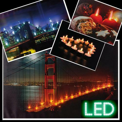 v led wandbild bild beleuchtet leinwand golden gate bridge brooklyn advent ebay. Black Bedroom Furniture Sets. Home Design Ideas