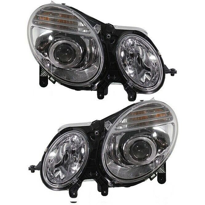 Headlight set for 2007 2009 mercedes benz e350 e550 left for Mercedes benz headlight bulb