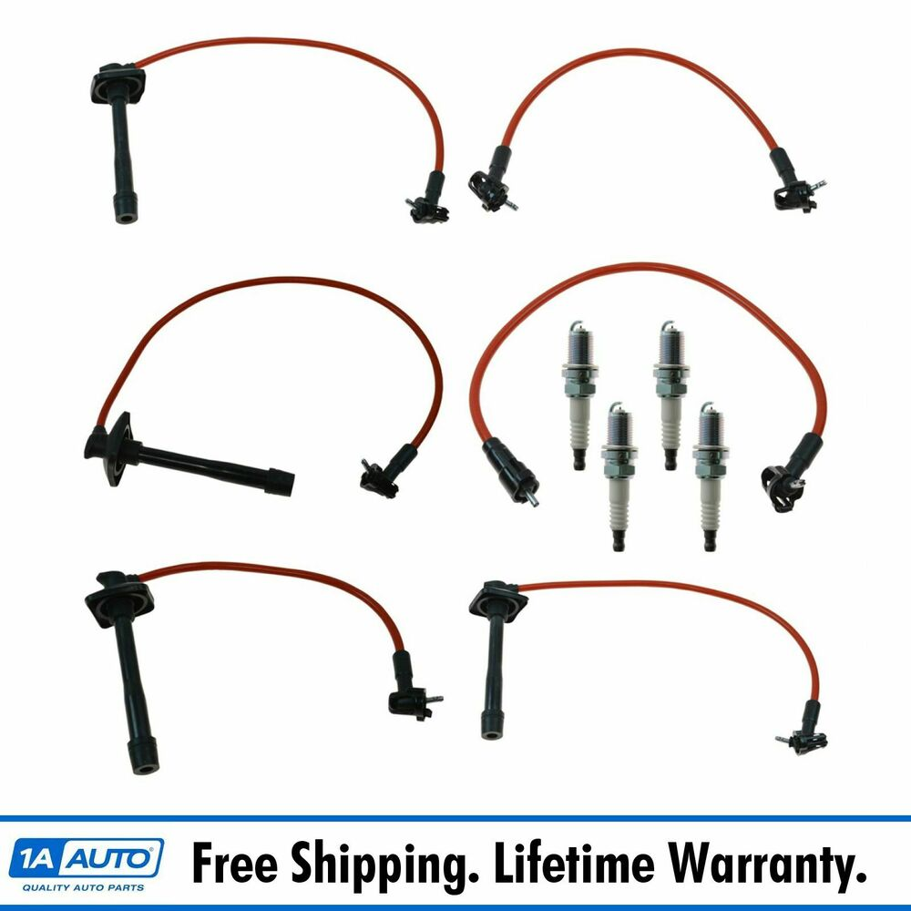 ford spark plug wire diagram platinum spark plugs and ignition wires kit for 92-97 ... 92 toyota camry spark plug wire diagram