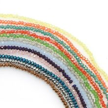 100 pcs 3x2 3x2.5mm Chinese Crystal Glass Faceted Rondelle Loose Spacers Beads