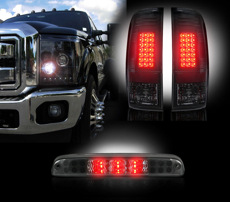 2011 2014 Ford Super Duty Smoked Led Headlights Tail
