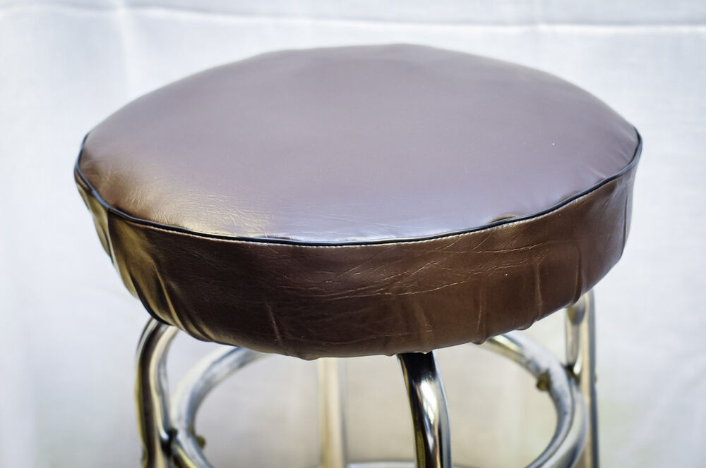 Bar Stool Slip on Seat Cover Vinyl with Foam Padded Brown  : s l1000 from www.ebay.com size 1000 x 664 jpeg 56kB