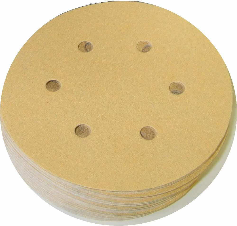 Premium gold 6 in 6h 220 grit vacuum hook loop sanding for 10 sanding disc for table saw