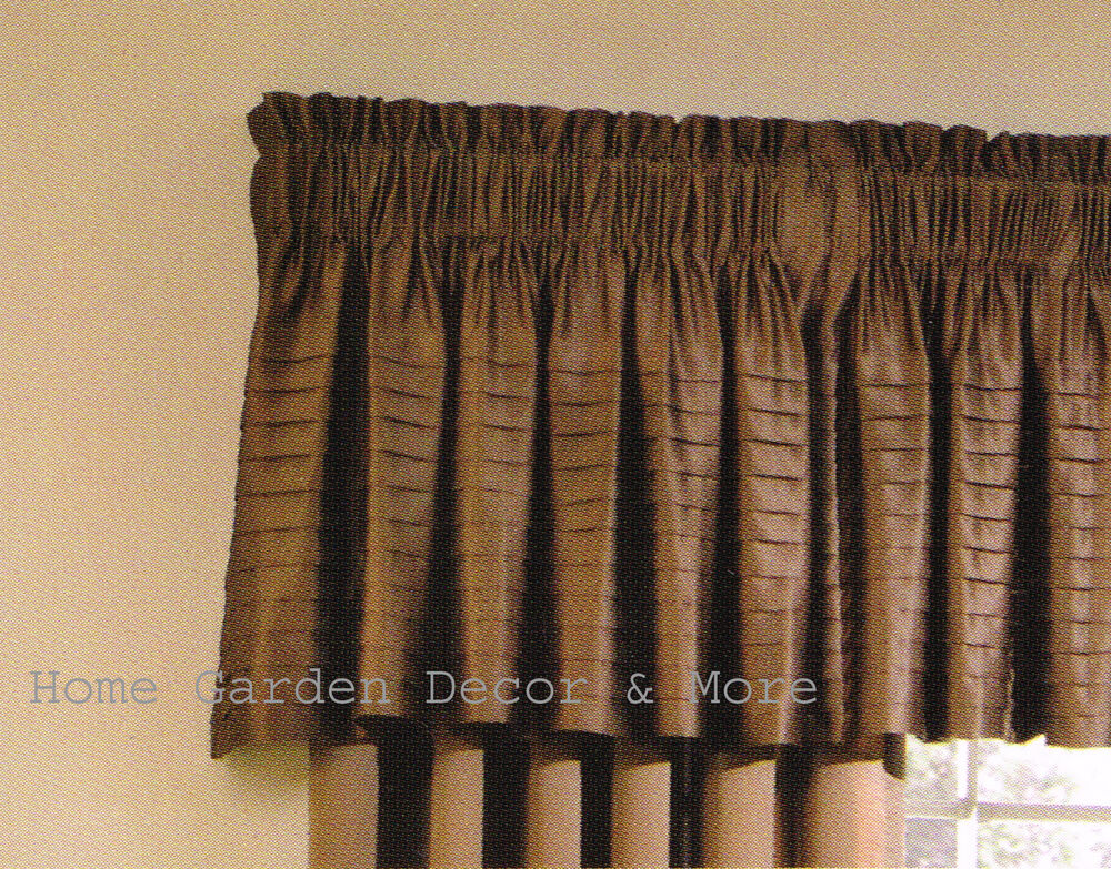 Allen Roth Lincolnshire Pleated Satin Chocolate Brown
