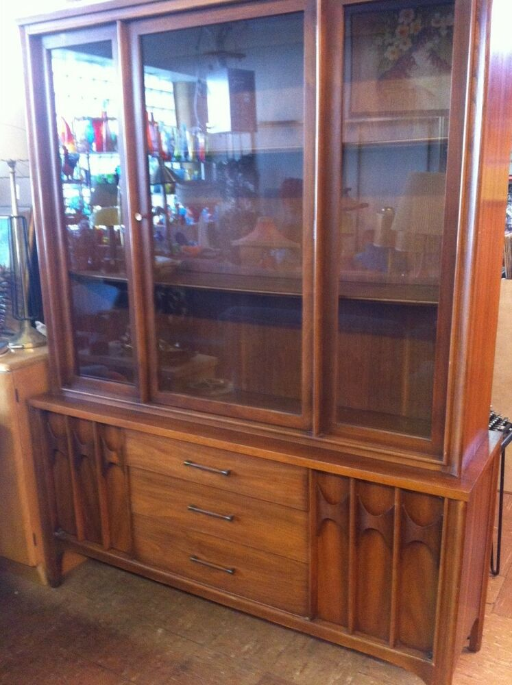 vintage kent coffey china cabinet hutch mid century danish