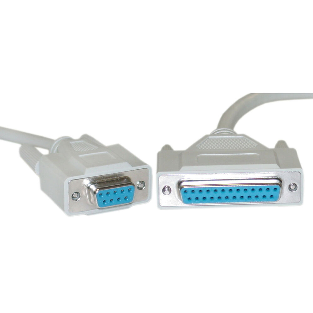 10ft Null Modem Cable Db9 Female To Db25 Female 8