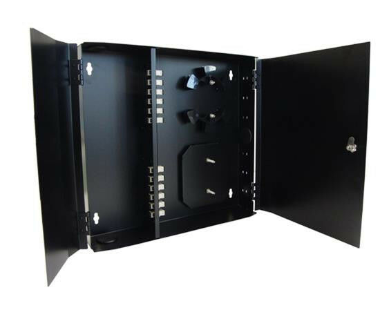Fiber Patch Panel Wall Mount Enclosure Multimode 12 Sc