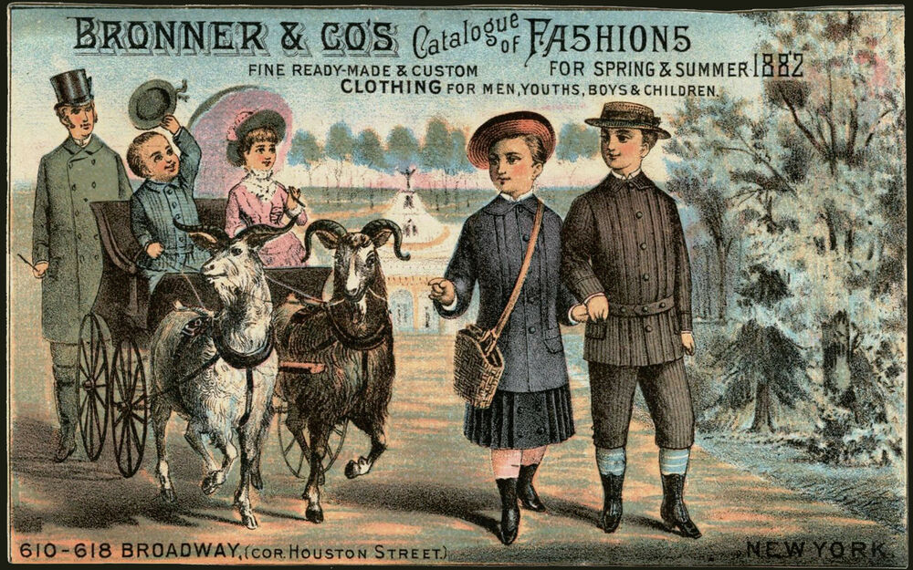 1882 bronners co catalogue of fashions new york. Black Bedroom Furniture Sets. Home Design Ideas
