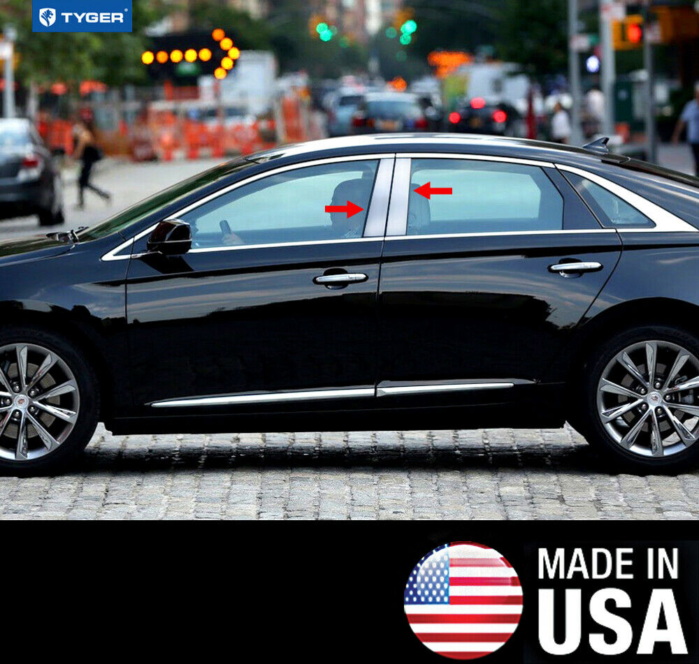 TYGER For 2013-2015 Cadillac XTS 4PC Stainless Steel