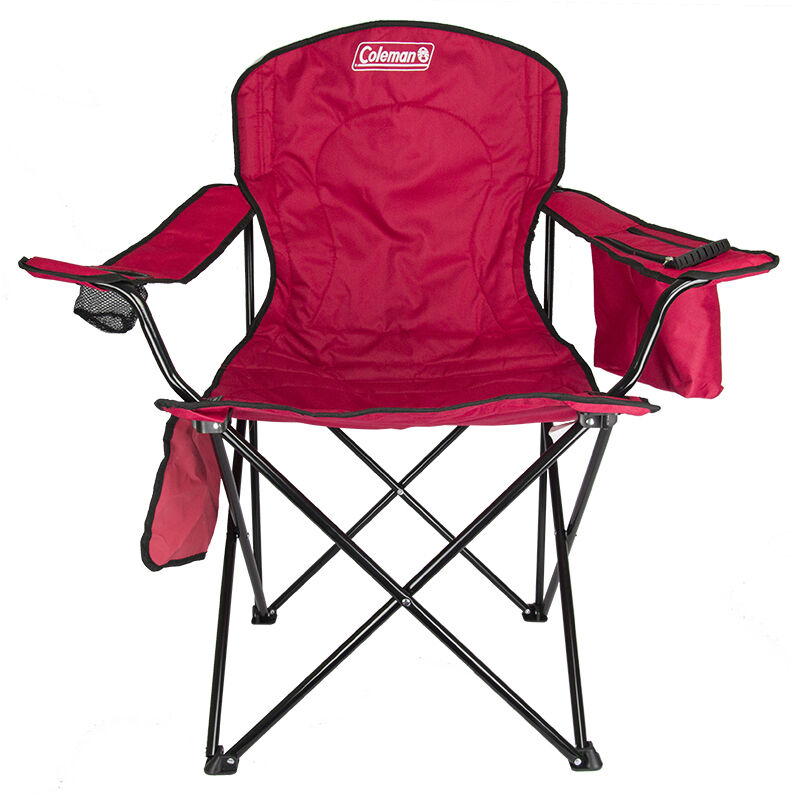 Coleman Folding Quad Chair With Built In Cooler And Cup