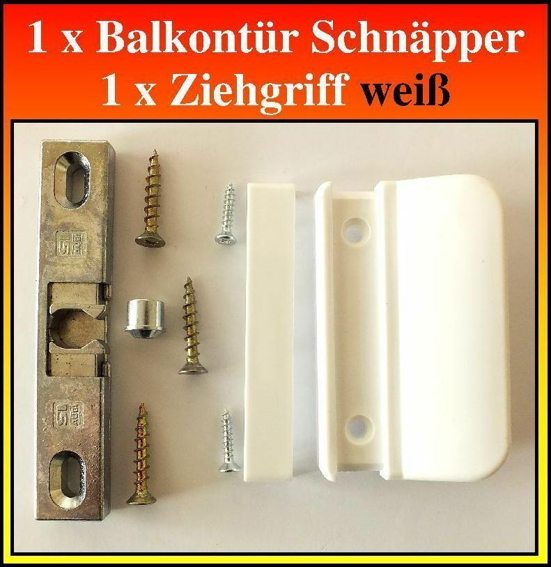 1 stck balkont r schn pper siegenia 1361 1 stck ziehgriff wei incl schrauben ebay. Black Bedroom Furniture Sets. Home Design Ideas