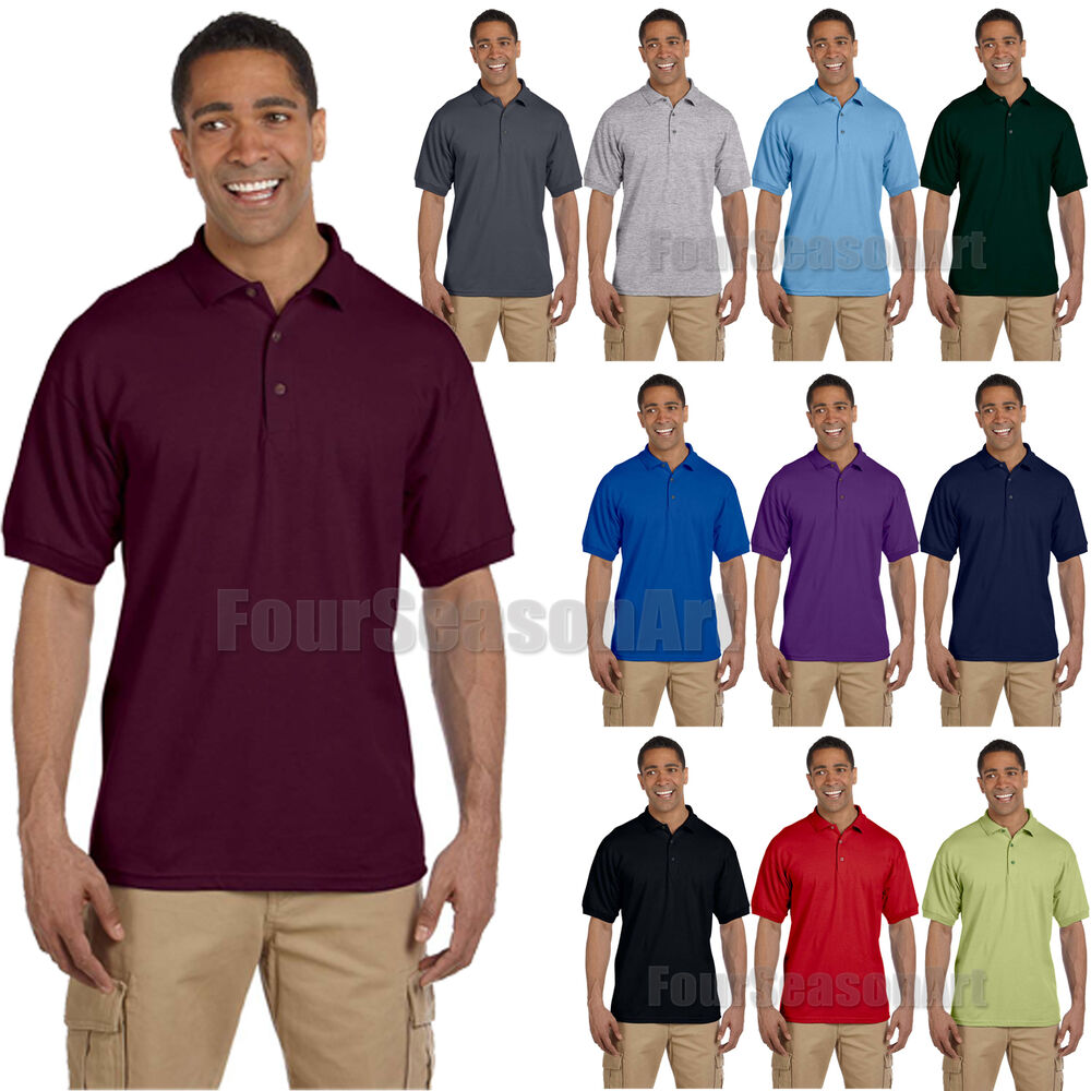 Gildan Mens Ultra Cotton Ringspun Pique Sport Shirt Polo Tee S 5xl