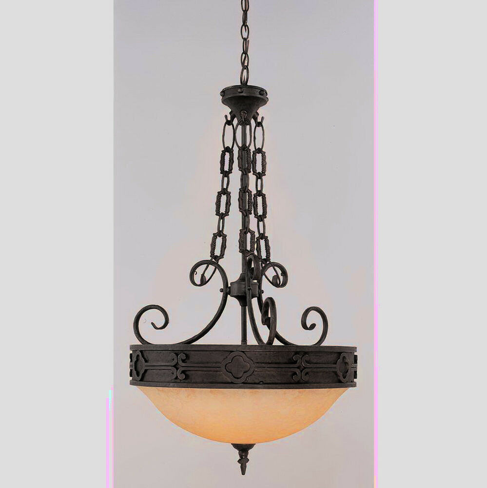Black And Tea Stain Glass Chandelier Pendant