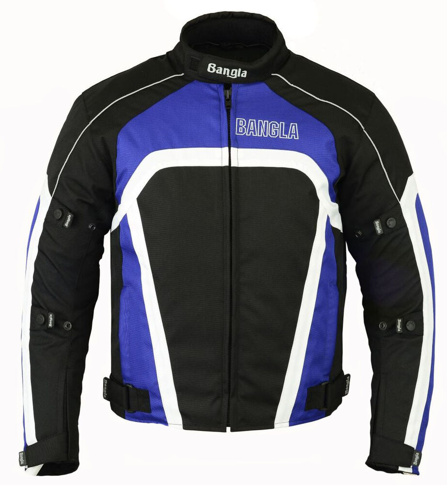 bangla motorrad kurzjacke textil jacke blau weiss schwarz s m l xl xxl ebay. Black Bedroom Furniture Sets. Home Design Ideas