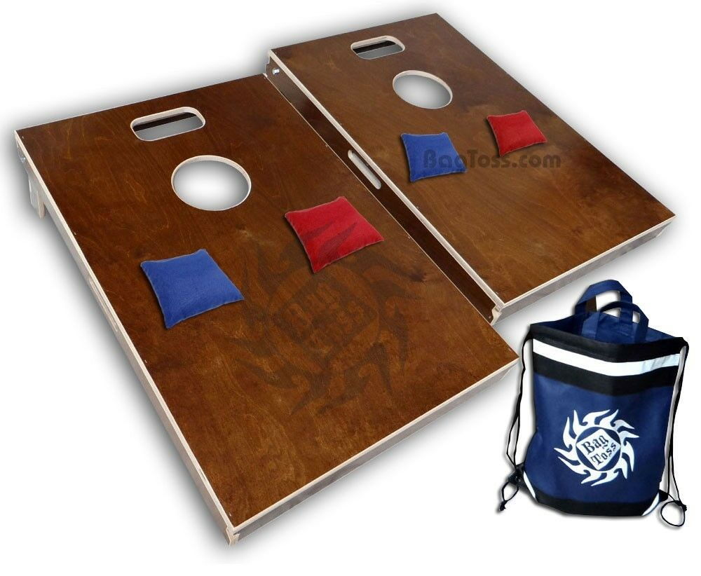 Tailgate Size Cornhole Boards Bag Toss 2 With 5pt Slot