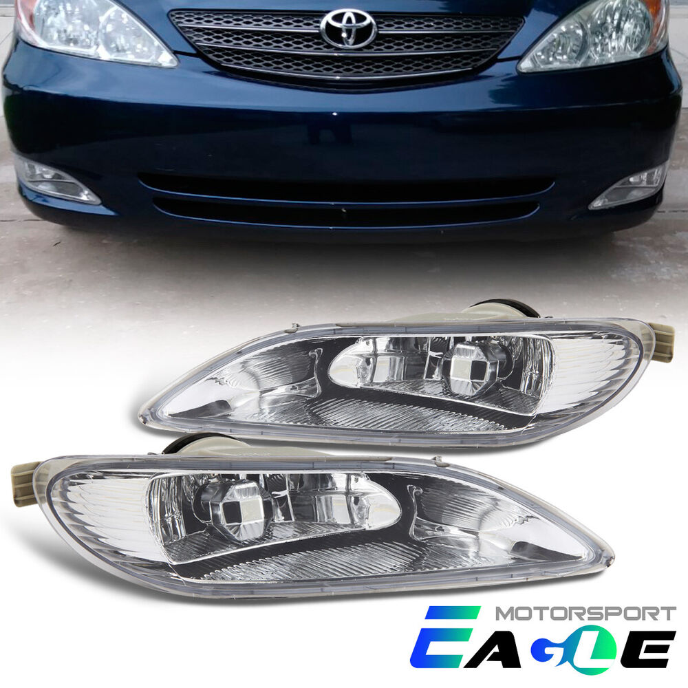2002 2003 2004 toyota camry solara 2005 2006 2007 2008 corolla clear fog lights ebay. Black Bedroom Furniture Sets. Home Design Ideas