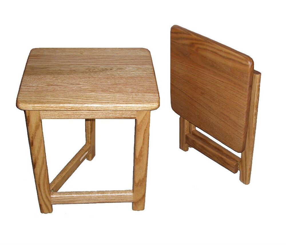 Compact rv folding end table hardwood 12x14 made in usa ebay - Rv side tables ...