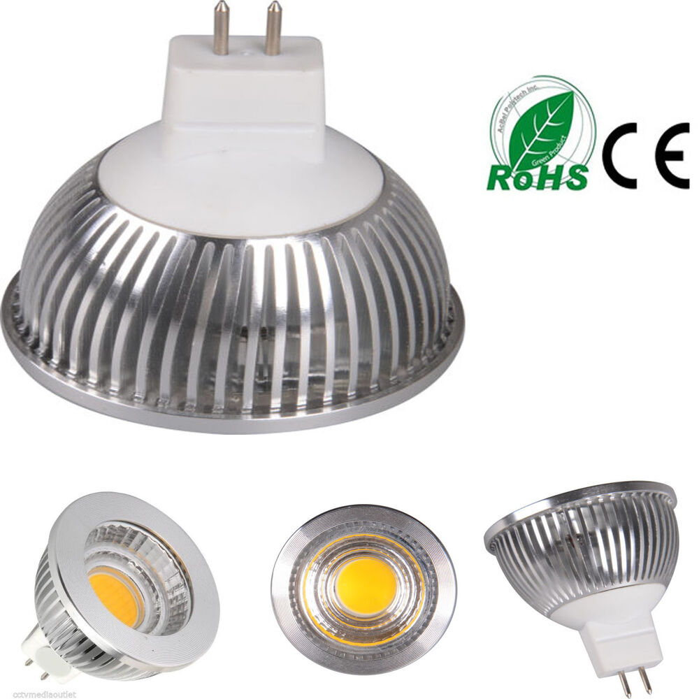 mr16 gu5 3 led cob light 5w high power energy bulb ac dc. Black Bedroom Furniture Sets. Home Design Ideas