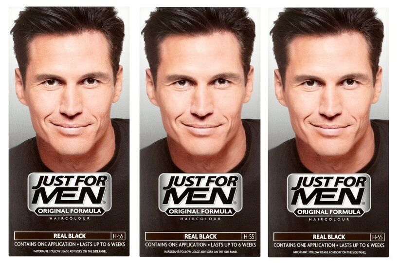 how to use just for men hair dye