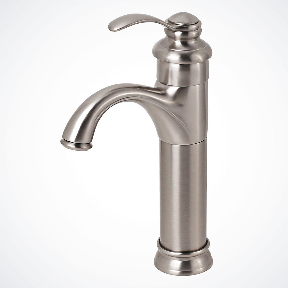 New Brushed Nickel Euro Modern Bathroom Vessel Sink Faucet