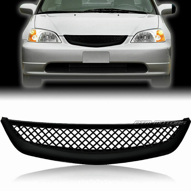 JDM Mesh Style Black ABS Front Grille For 2001-2003 Honda