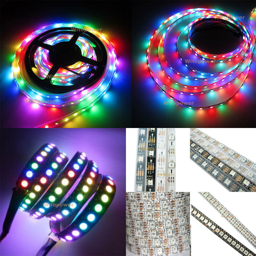 ws2812b 5050 rgb led strip 5m 150 300 leds 144 60led m. Black Bedroom Furniture Sets. Home Design Ideas