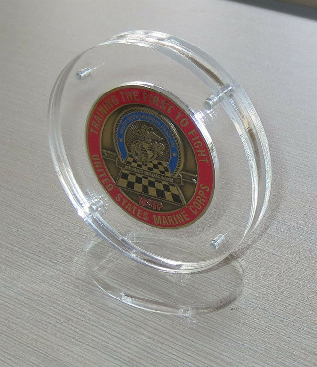 1 75 Quot Military Challenge Coin Display Holder Case Stand W Magnetic Fastener Ebay