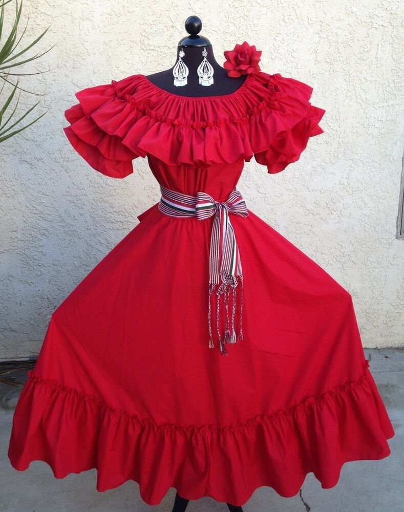 Mexican Fiesta 5 De Mayo Wedding Red Red Dress Off