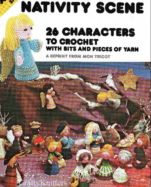 Crochet Patterns Nativity Scene : Crochet Pattern Nativity Scene 26 Character Christmas eBay