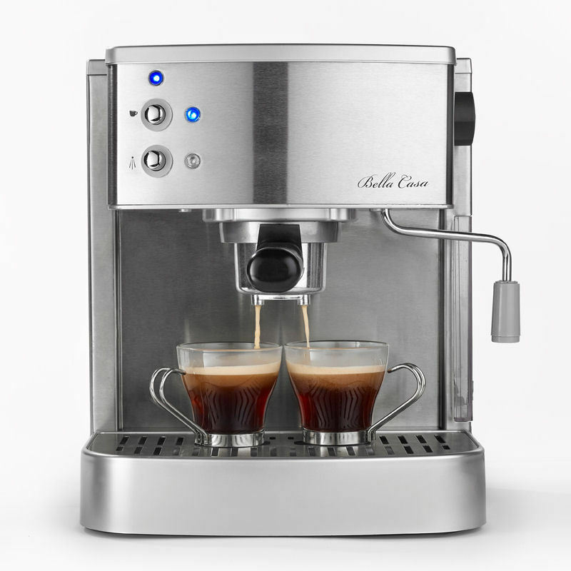 bella coffee maker casa stainless steel 2 cup espresso cappuccino 13046