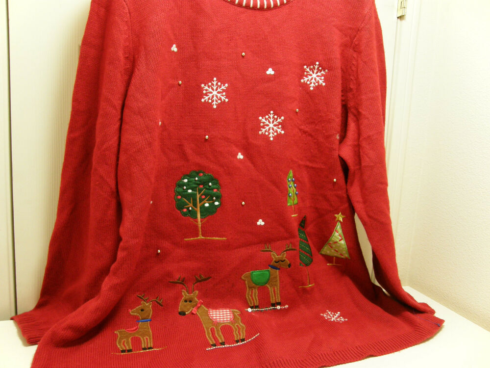 Vintage christmas sweaters ugly