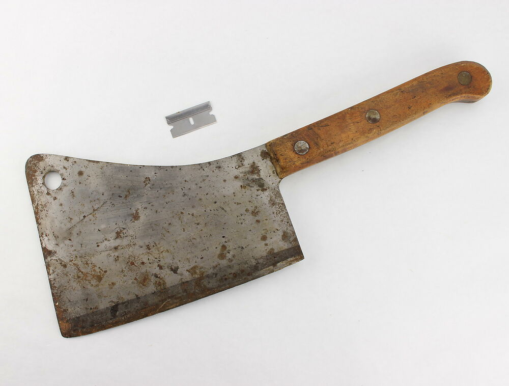 XXL Rare Antique LAMSON GOODNOW 8 Meat Cleaver Butchers Knife 20s 30s 40s | eBay