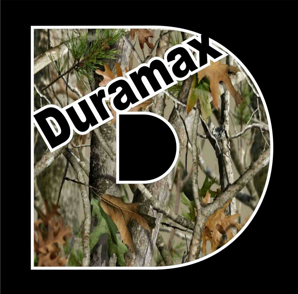 Duramax Camo T Shirt Vinyl Decal Chevrolet Chevy Turbo