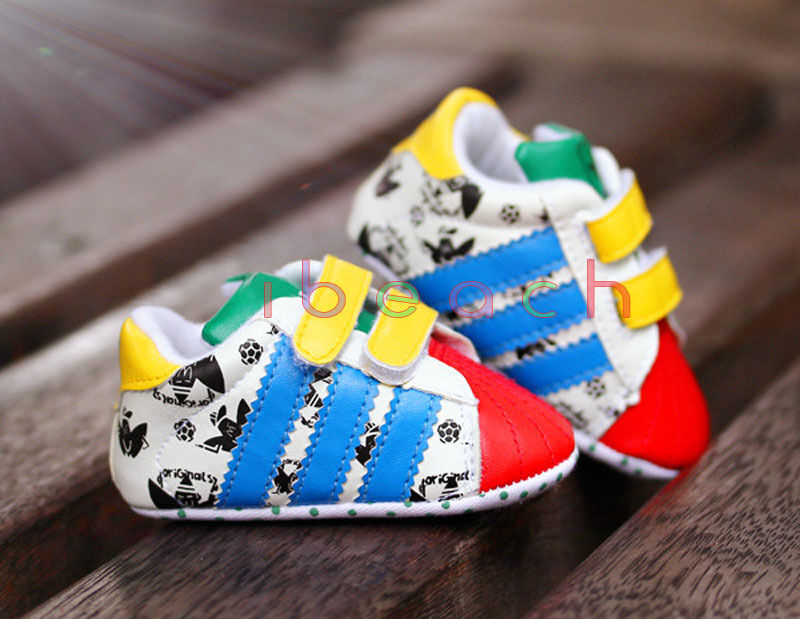 Newborn Baby Boy Girl Crib Shoes Soft Sole Colourful