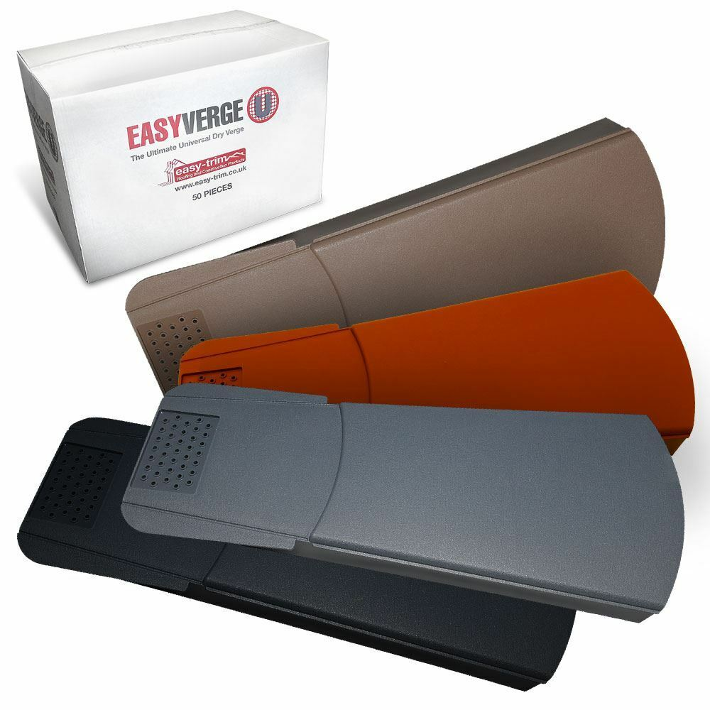 50 X Easy Trim Universal Dry Verge System For Gable End