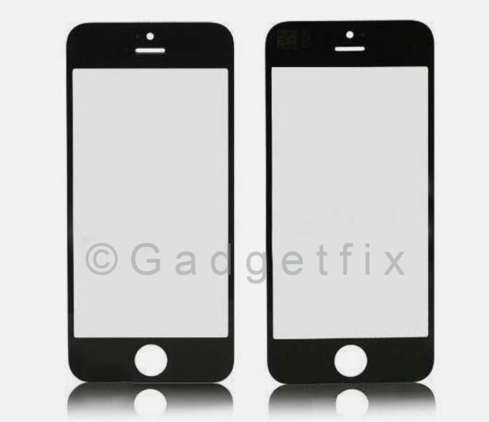 iphone 5c black screen fix usa black front outter top glass lens cover screen repair 17417