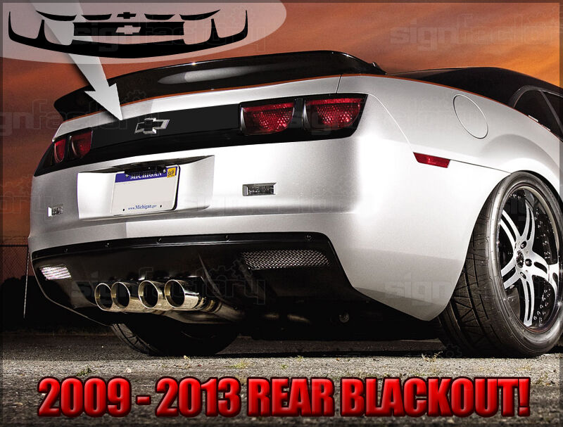 2010 2011 2012 2013 Camaro Rear Blackout Decal Graphics Kit Rs Ss Zl1 Ebay