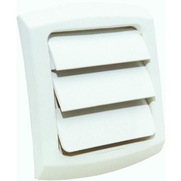 4 Quot White Plastic Louvered Clothes Dryer Replacement Vent