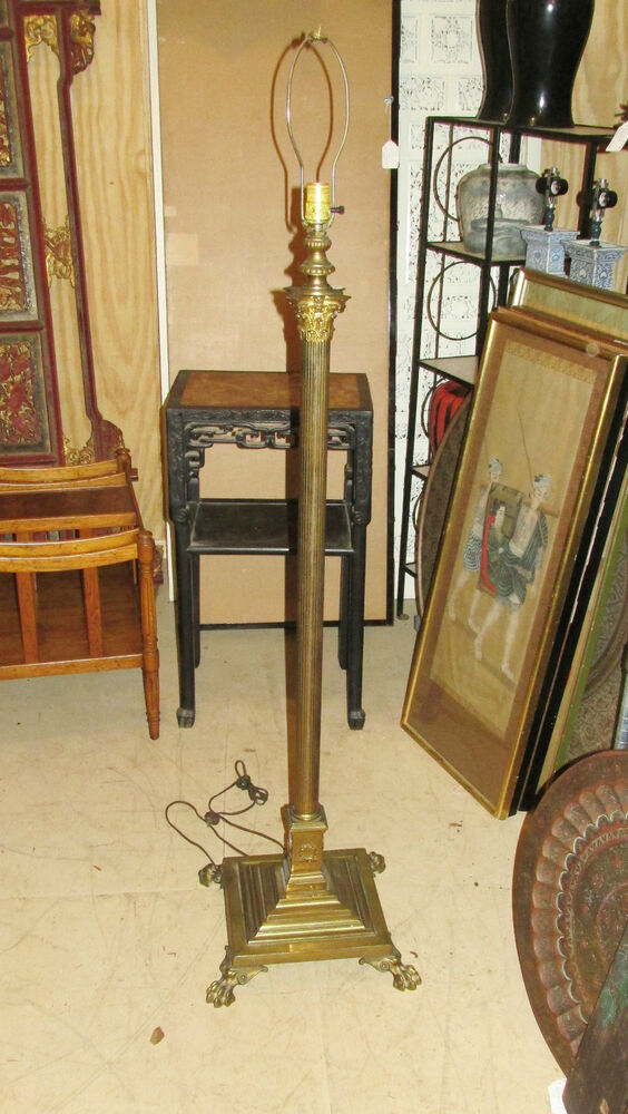 Antique French Empire Style Floor Lamp Brass Or Bronze Ebay