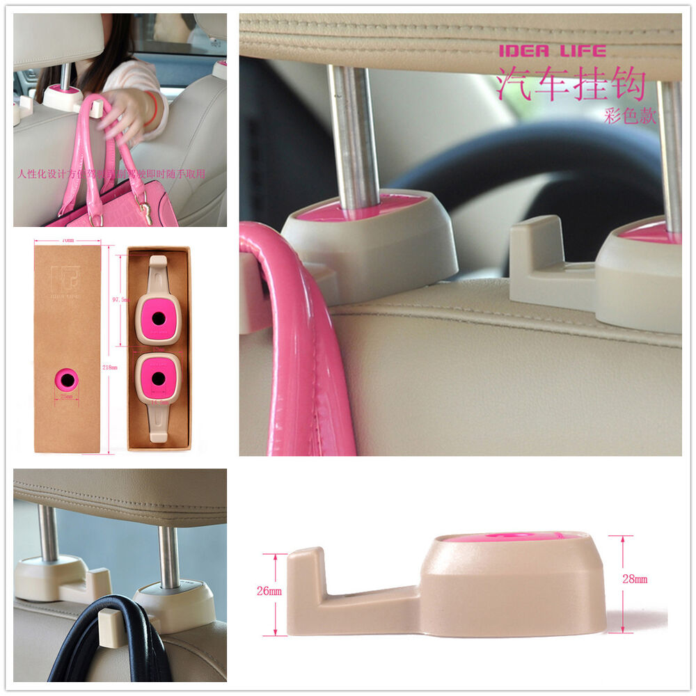 car back seat headrest hanger bag coat grocery pink holder hooks for honda acura ebay. Black Bedroom Furniture Sets. Home Design Ideas