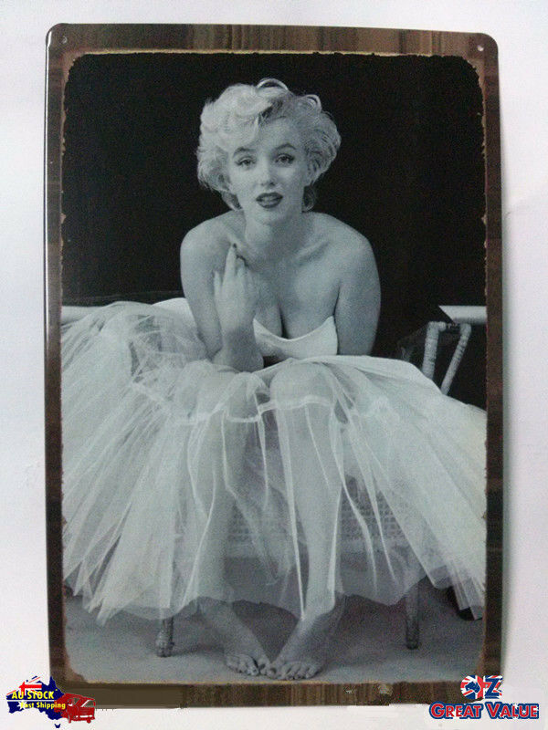 Vintage Style Marilyn Monroe Home Decor Sign Picture The
