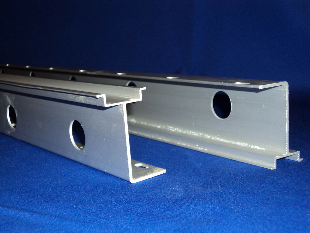 Pcs extruded aluminum slotted din rail heavy weight mm