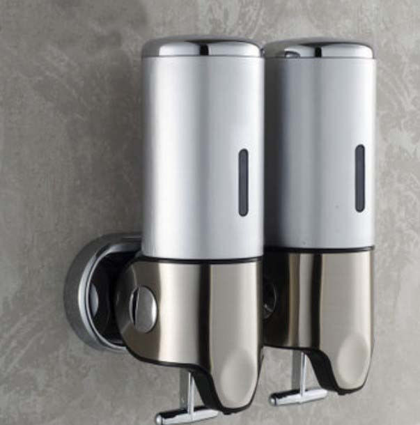 High grade chrome bathroom liquid soap dispenser wall for Liquid soap dispenser for bathroom